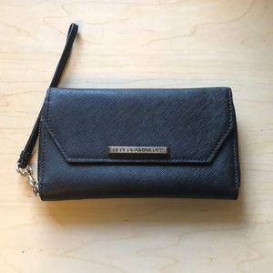 Rebecca minkoff iPhone wristlet saffiano leather